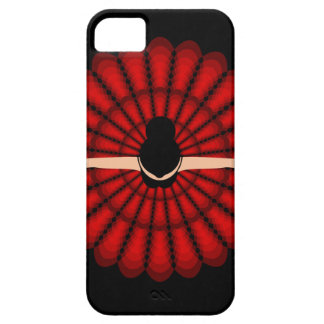 dancing ballerina wearing red dress iPhone SE/5/5s case