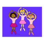 Dancing Ballerinas Gifts Post Card