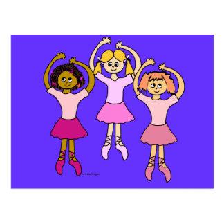 Dancing Ballerinas Gifts Post Card