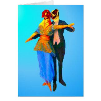 Dancing Ballroom Dogs Card