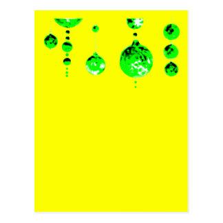 Dancing Balls Green Dk Inv Transp MUSEUM Zazzle Postcard