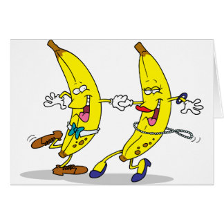 Dancing Bananas Note Cards Cards