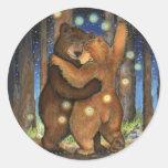 Dancing Bear Classic Round Sticker