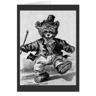 Dancing Bear Pat - Letter D - Vintage Teddy Bear Cards