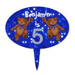 Dancing Bears 5th Birthday Party Cake Picks