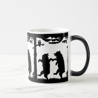 Dancing Bears Black Silhouette Magic Mug