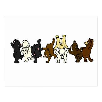 Dancing Bears Postcard