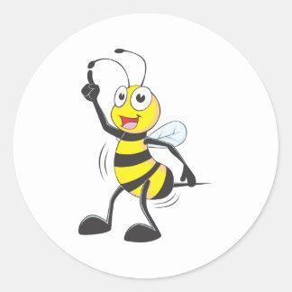 Dancing Bee Classic Round Sticker