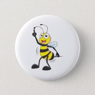 Dancing Bee Pinback Button