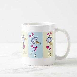 Dancing birds coffee mugs