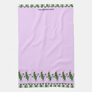 Dancing Birthday Jester Cats Hand Towel