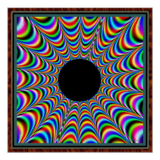 Dancing Black Center with Color Emissions Poster