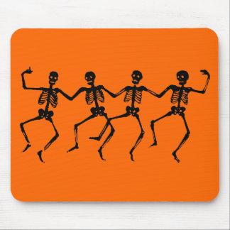 Dancing Black Skeletons Mouse Pad