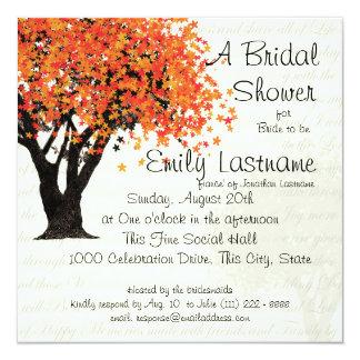 Dancing Blooms Tree Bridal Shower Card
