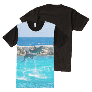 Dancing Blue Dolphins Photography Print All-Over-Print Shirt