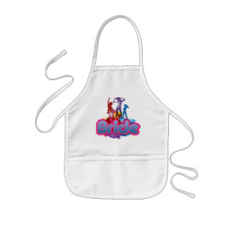 dancing blue pink bride to be future mrs gifts kids' apron