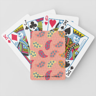 Dancing Boho Paisley Bicycle Playing Cards