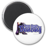 Dancing Boots 2 Inch Round Magnet