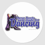 Dancing Boots Classic Round Sticker