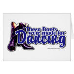 Dancing Boots Greeting Card