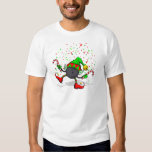 Dancing Bowling Christmas Elf Tee Shirt