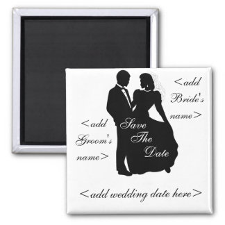 Dancing Bride and Groom Refrigerator Magnets