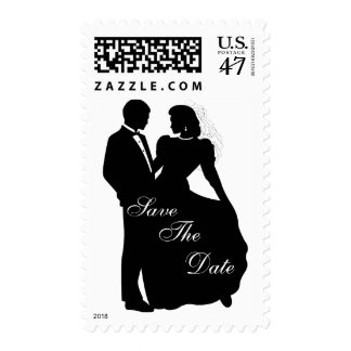 Dancing Bride & Groom Postage