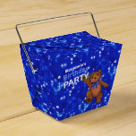 Dancing Brown Teddy Bear 5th Birthday Party Party Favor Boxes