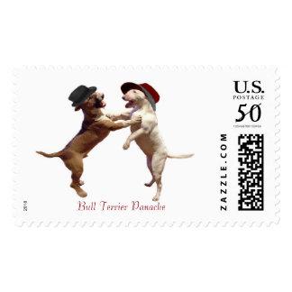 Dancing Bull Terrier Postage Stamp