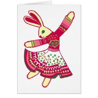 Dancing Bunny Card