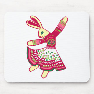 Dancing Bunny Mouse Pads