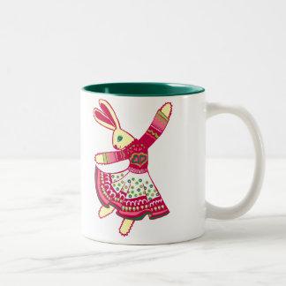 Dancing Bunny Mugs