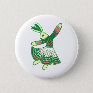Dancing Bunny Pinback Button