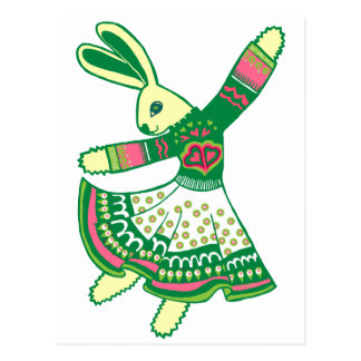 Dancing Bunny Postcard