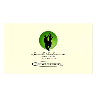 Dancing Business Card (Green Backdrop)