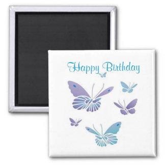 Dancing Butterflies, Happy Birthday Fridge Magnets