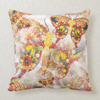 Dancing butterflies throw pillow