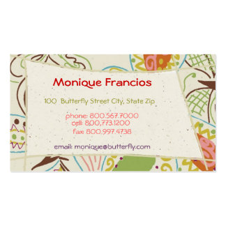 Dancing Butterfly in Cream Business Card