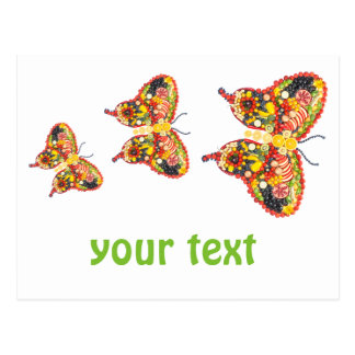 Dancing butterflys postcard