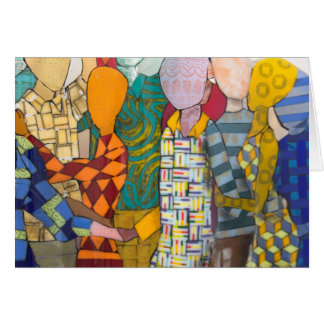 Dancing by Lesley Nolan color and shape galor Card
