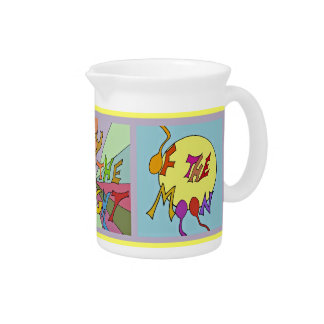 dancing by the light of the moon beverage pitcher