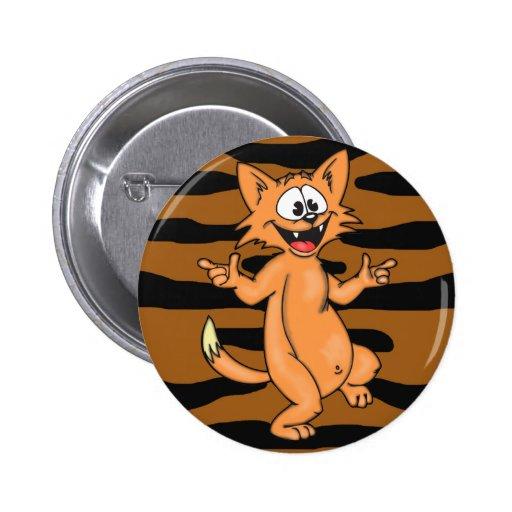 Dancing Cartoon Cat Pin