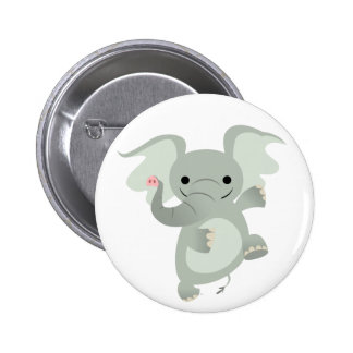 Dancing Cartoon Elephant Button Badge