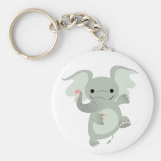 Dancing Cartoon Elephant  Keychain
