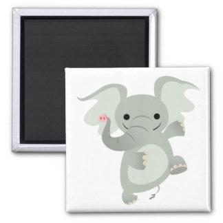 Dancing Cartoon Elephant  Magnet