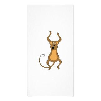 Dancing Cartoon Monkey Photo Cards