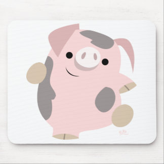 Dancing Cartoon Pig mousepad