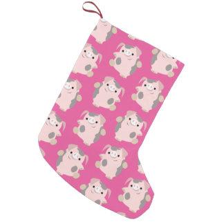 Dancing Cartoon Pig Pattern Christmas Stocking
