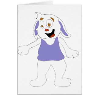 Dancing Cartoon Rabbit Greeting Cards