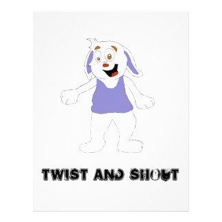 Dancing Cartoon Rabbit Custom Letterhead